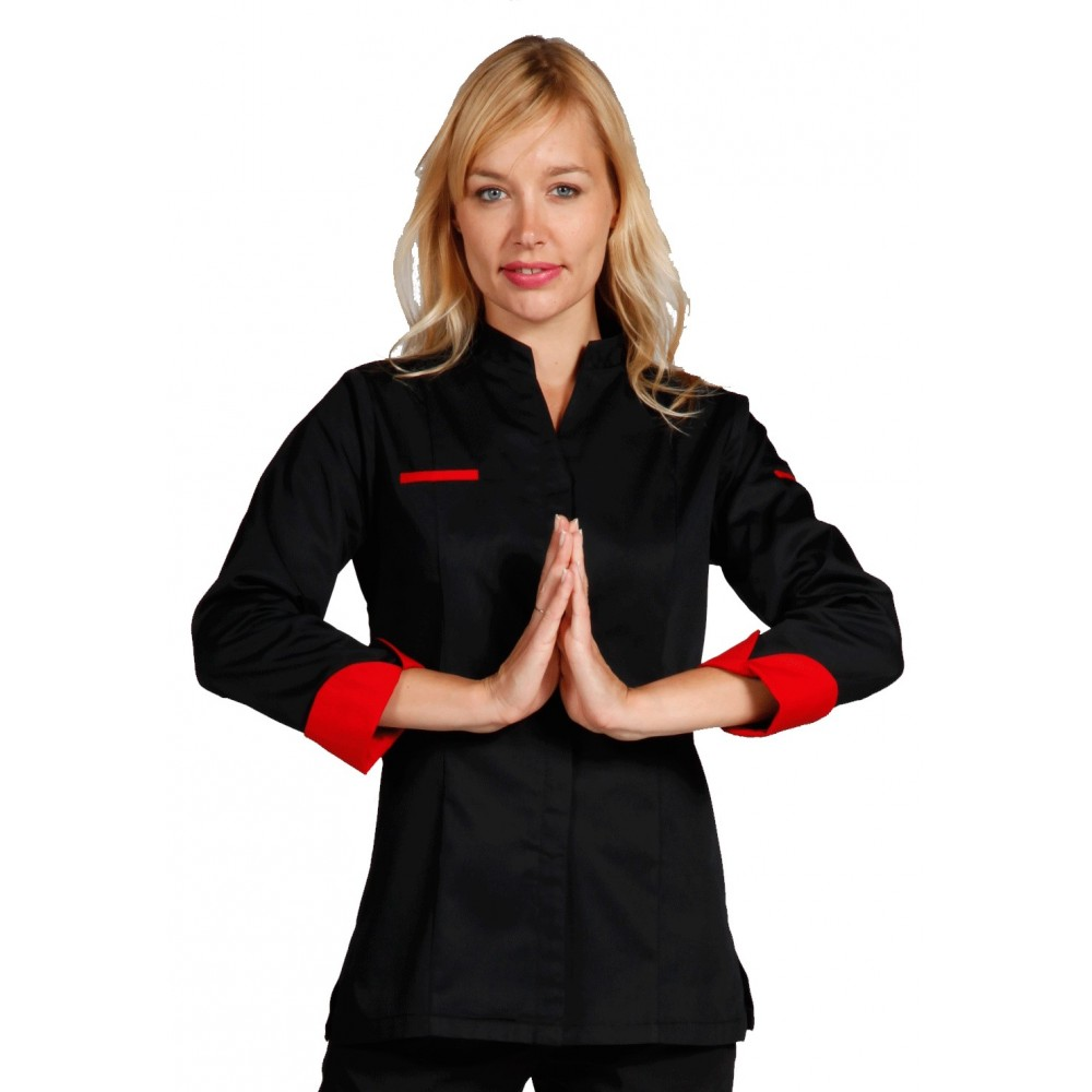 b2147d17b fitted women chef coat in colors
